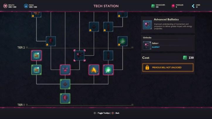 Eden Rising Tech Tree Screen.