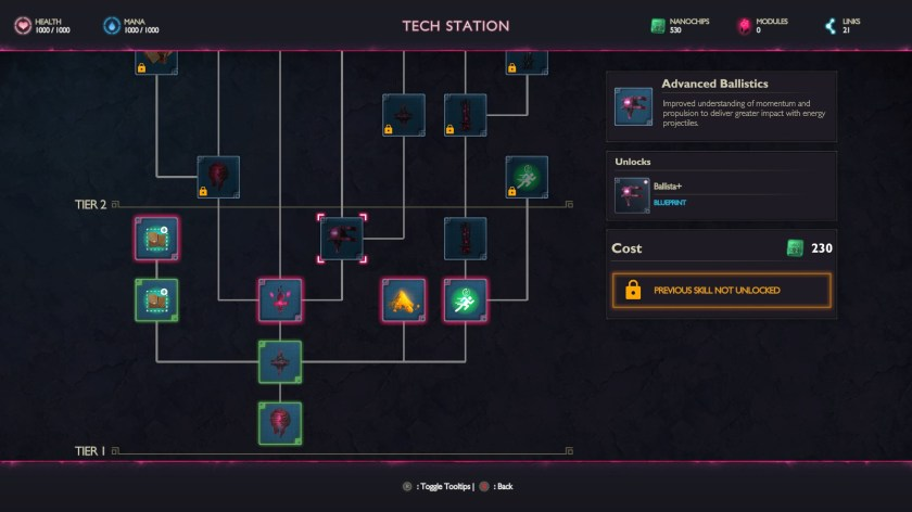 Eden Rising Tech Tree Screen.