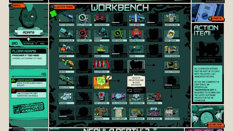 Void Bastards work bench
