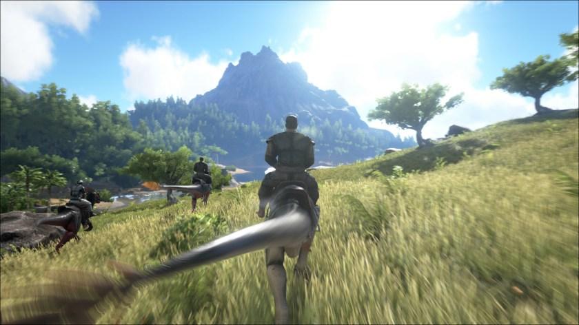 Ark Survival Evolved raptor ride