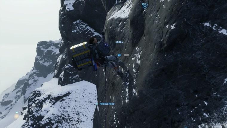 Death Stranding Climbing
