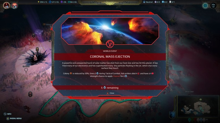 Planetfall: Invasions Coronal Mass Ejection