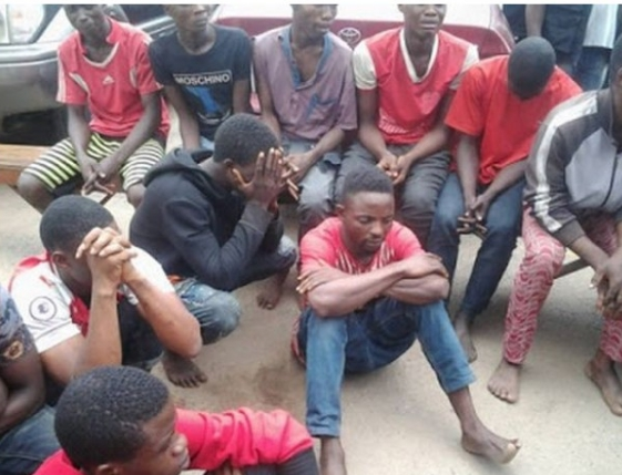 Young Men Busted By Lagos Police During Cult Initiation In A Forest (See Photo)