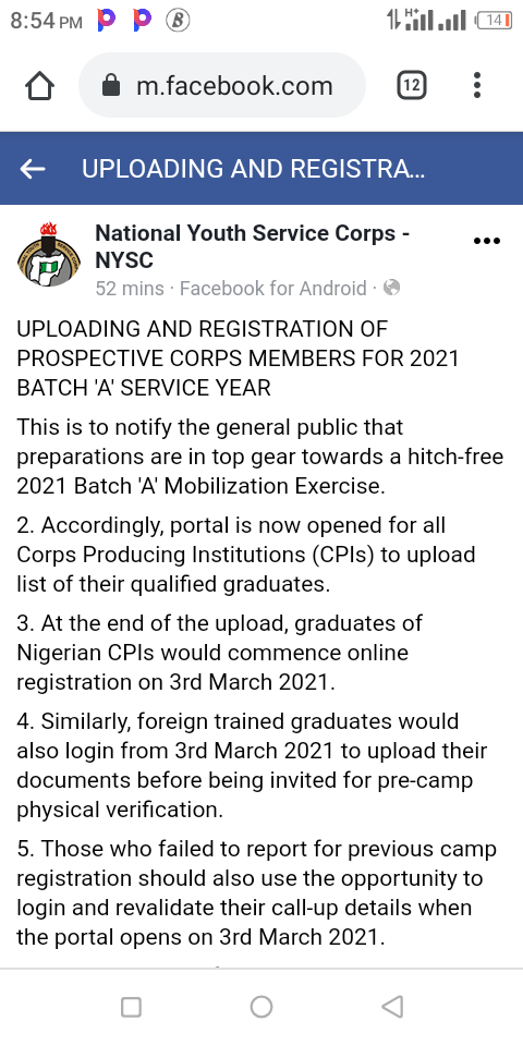 2021-nysc-batch-a-registration-begins-on-march-3rd