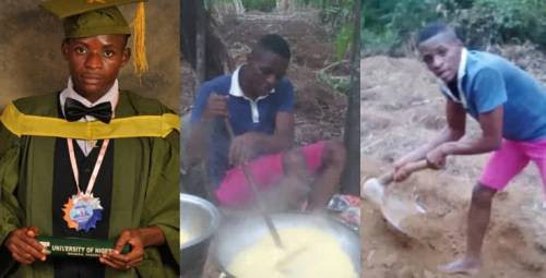 First-class Mathematics graduate who went viral after sharing photos of himself farming, bags PhD scholarship in US
