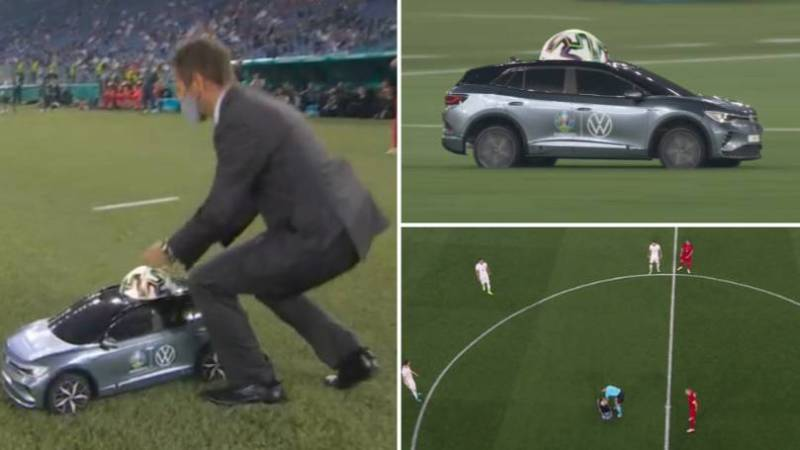 Remote Controlled Car Delivers Match Ball At Euro 2020 Opening Match (See Photos)