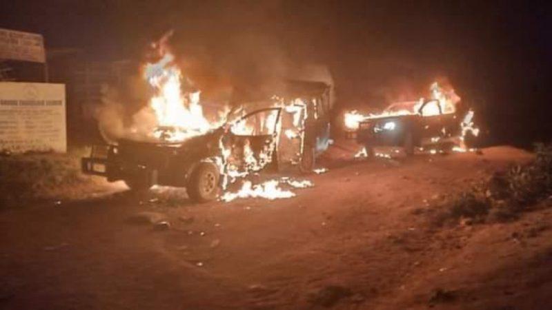 One Shot As Residents Burn Down Three Customs Vehicles In Ogun