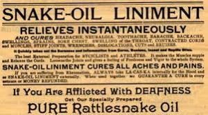 rattlesnake oil label