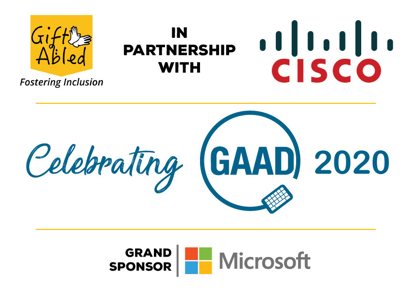 GiftAbled in Partnership with Cisco Celebrating GAAD 2020 , Grand Sponsor Microsoft