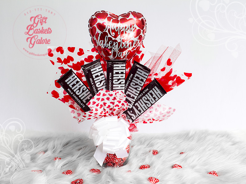 Valentines Candy Bouquet Gift Baskets Galore