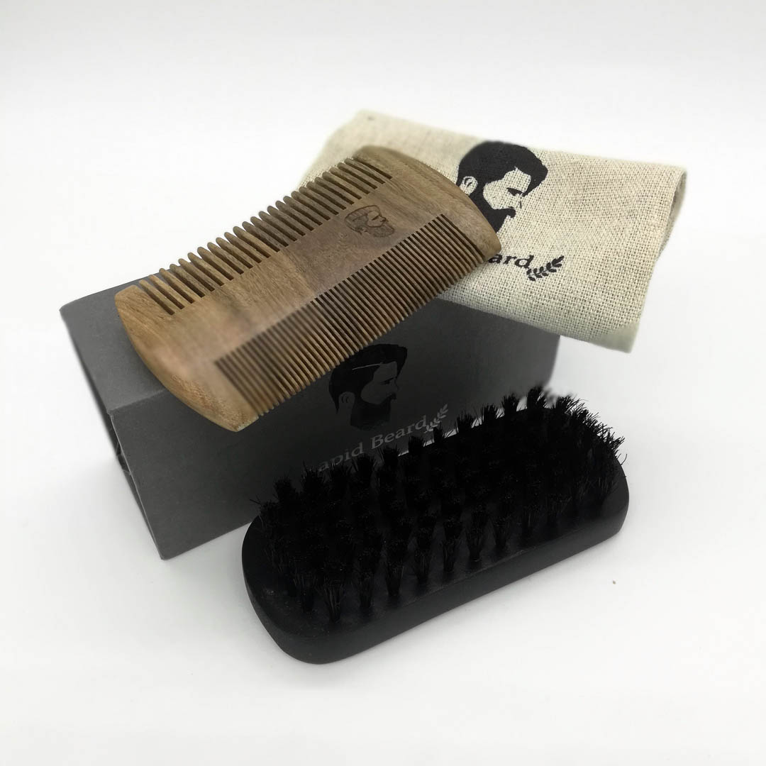 Beard Brush and Beard Comb kit for Men - GiftBoxx