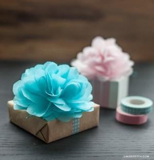 Tissue Pompoms Creative Gift Wrap