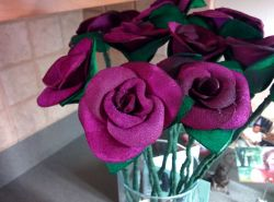 DIY Leather Roses for 3rd Wedding Anniversary