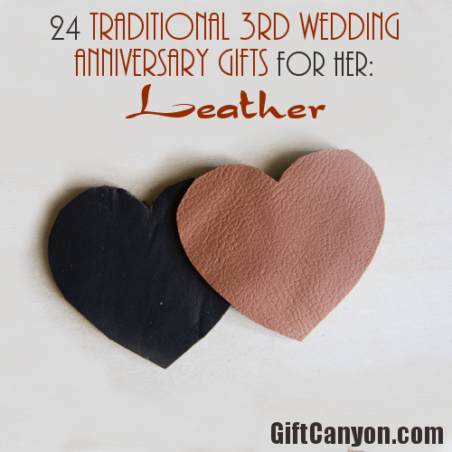 Traditional 3rd Wedding Anniversary Gifts for Her Leather  Gift Canyon