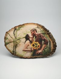 Wood Wedding Anniversary Gift - Picture Printed on Wood
