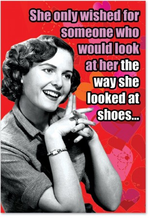 Valentines Day Card for the Shoe Addicted Friend