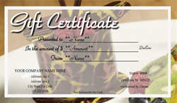Bakery Gift Certificate Templates  Easy to Use Gift Certificates