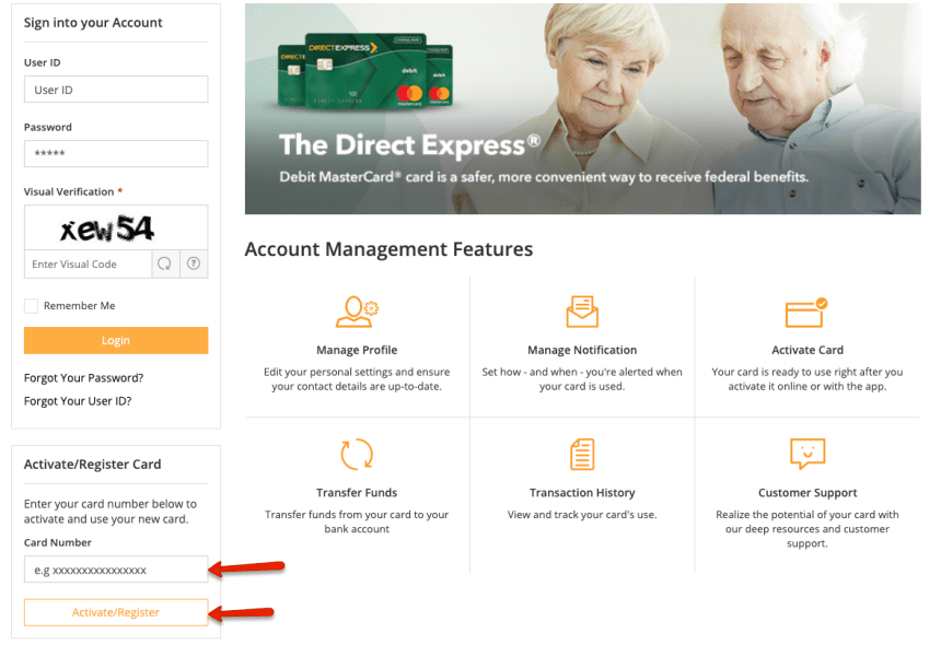 """""""How to Create a Direct Express card account"""""""