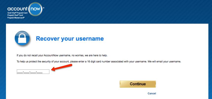 """AccountNow forgot username 1"""