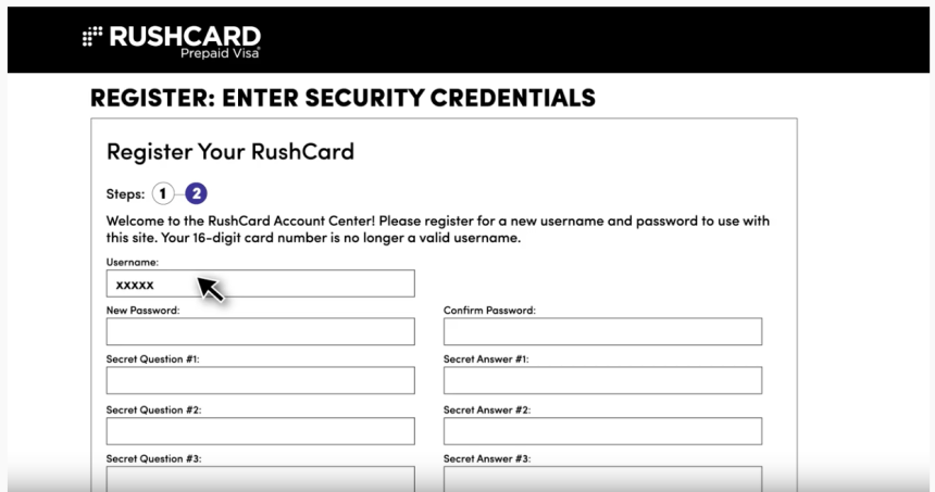 """How to register your Rushcard for online access"""