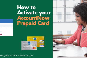 """Activate your AccountNow Prepaid Card"""