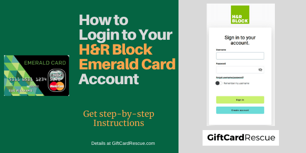 """H&R Block Emerald Card Login"""