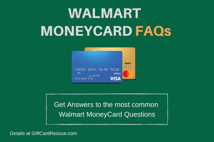 """Walmart MoneyCard FAQs"""
