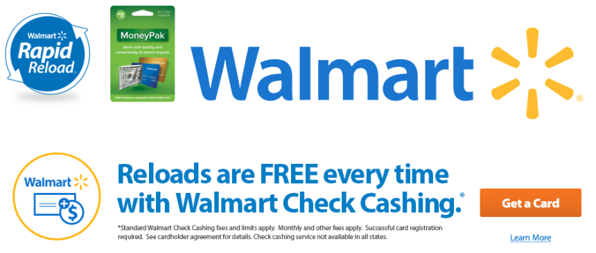 """Walmart MoneyCard Reload Options"""