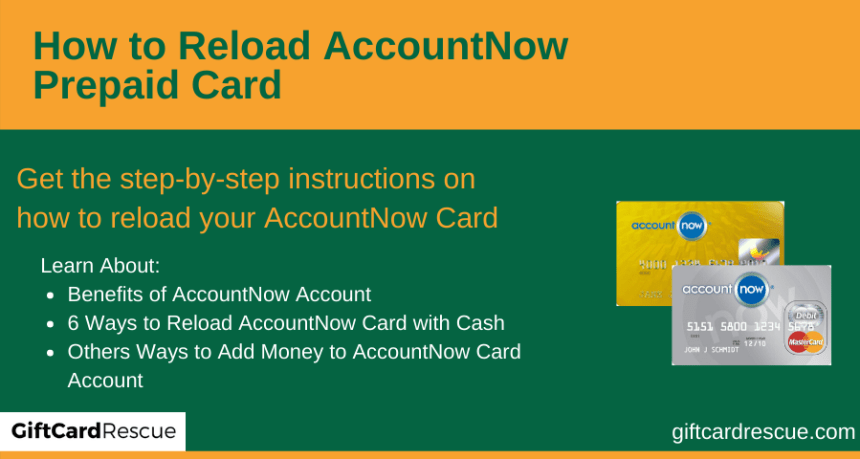 """How to Reload AccountNow Prepaid Card"""