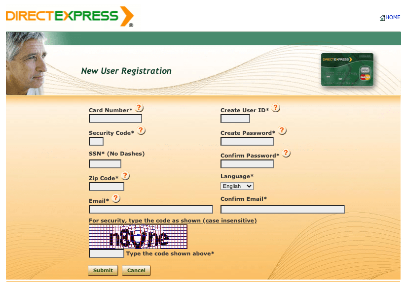 """""""create direct express account"""""""