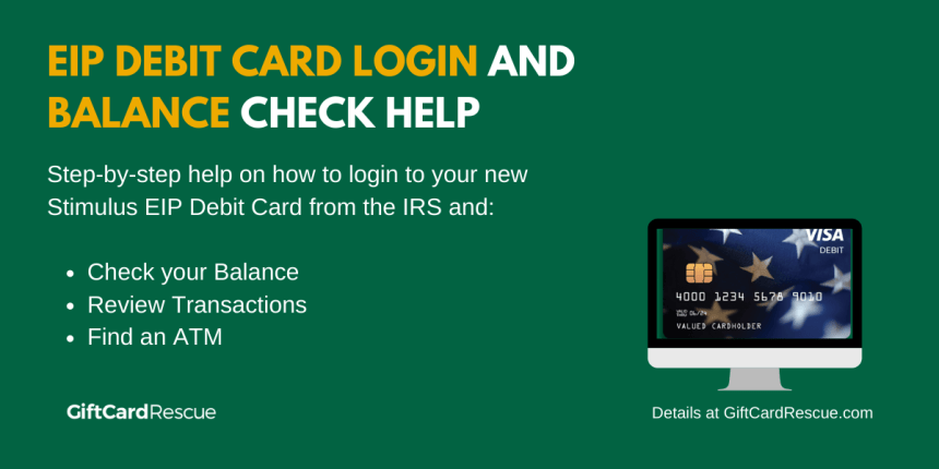 """""""EIP Debit Card Login and Balance"""""""