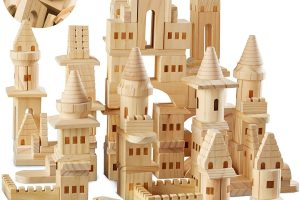 {150 Piece Set} Wooden Castle Building Blocks Set