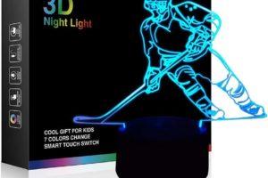 Hockey Player 3D Lamp
