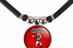 Football Necklace with Name