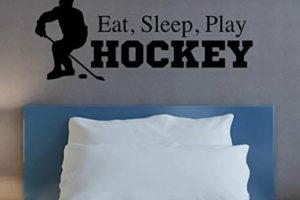 Eat Sleep Play Hockey Wall Decal