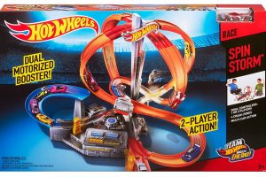 Hot Wheels Spin Storm Track Set [Amazon Exclusive]