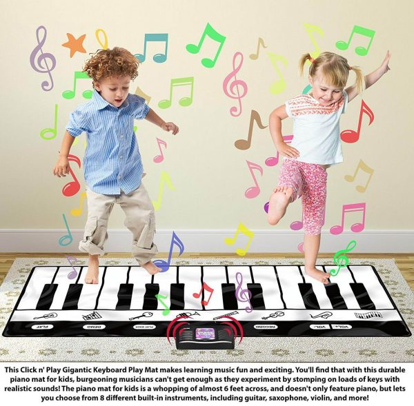 Gigantic Keyboard Play Mat, 8 Instruments + Play and Record
