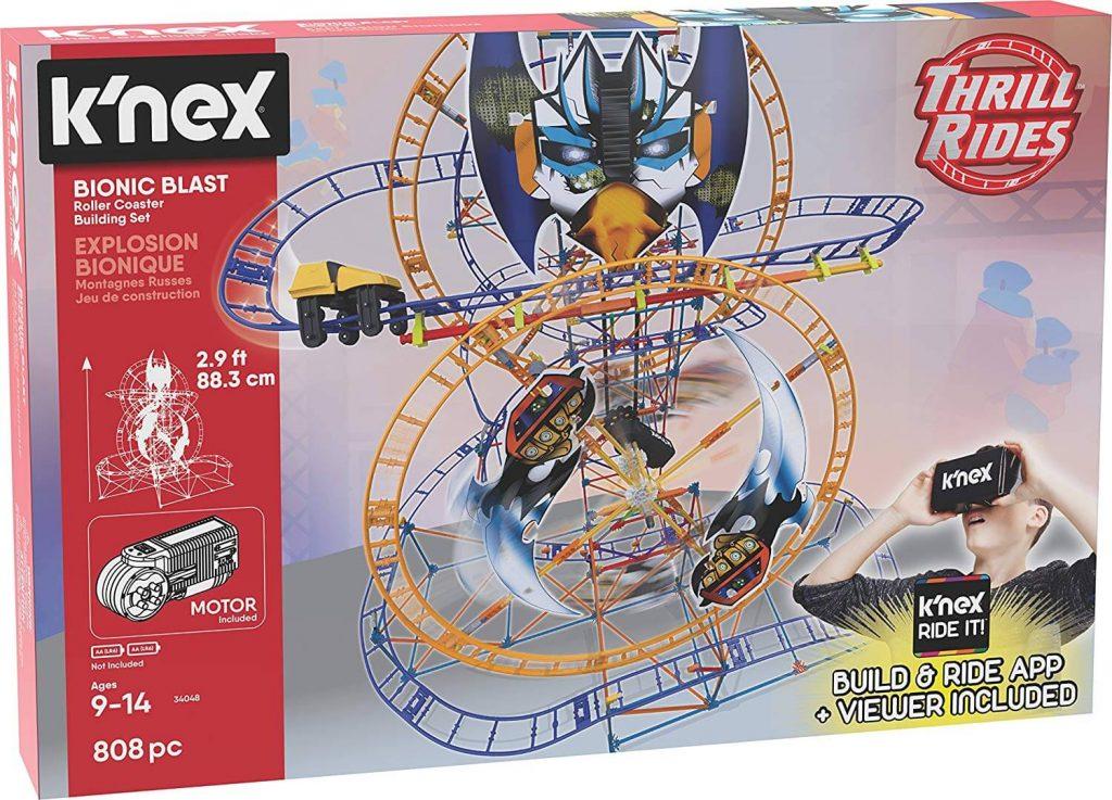 K Nex Thrill Rides Bionic Blast Roller Coaster Building Set Giftclimber Com