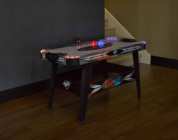LED Light-Up Air Hockey Table - Includes 2 LED Sticks and Puck