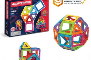 Magformers Basic Set (30 pieces) - Magnetic Building STEM Toy