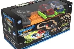 Twister Tracks RC Dual Lane Police Chase Glow in Dark Track Set