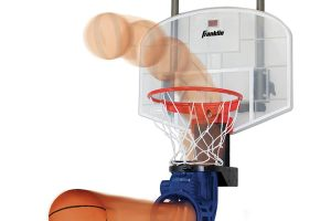 Franklin Sports Over The Door Mini Basketball Hoop With Rebounder