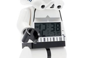 LEGO Star Wars Stormtrooper minifigure alarm clock