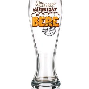 "Pahar de bere ""Bautor autorizat de bere""."