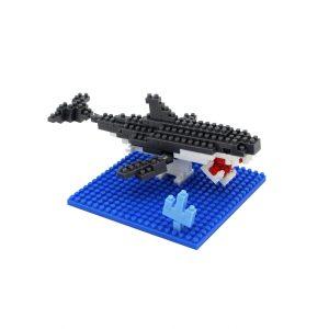 Set constructie Microbricks, rechin, 150 piese
