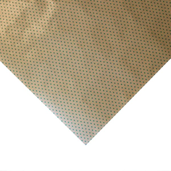 Hartie pentru ambalat cadouri Kraft Vintage 200x70 cm buline verzi