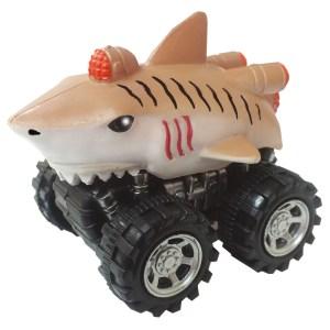 Mașinuță cu sistem friction rechin tigru