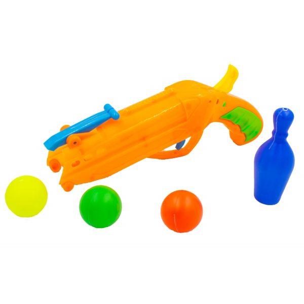 Pistol cu bile jucarie Ping-Pong portocaliu