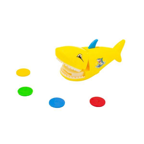 Jucarie catapulta rechin galben lansator fise
