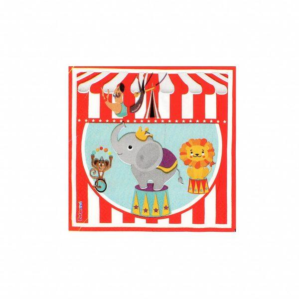 Servetele party 16 buc. 33cm Circus